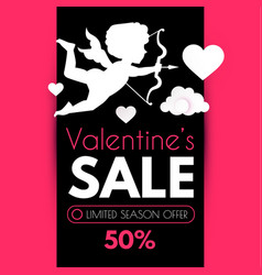 Valentine s day sale cute design template with vector