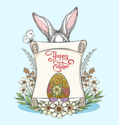 vintage easter template vector image