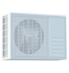 White modern external air conditioner compressor vector