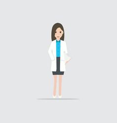 woman in work flat design vector image