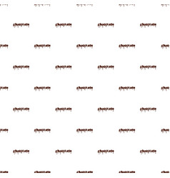 Word chocolate pattern vector