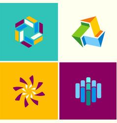 circle technology logos vector image vector image