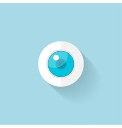 Flat web icon Eye vector image