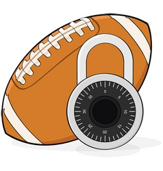 football lockout vector image vector image