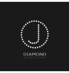 J letter with diamonds vector image vector image