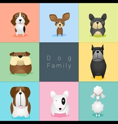 Set of dog family 2 vector image