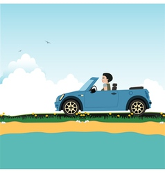 Women driving vector image