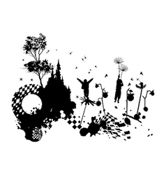 Children Fantasy Grunge Concept vector image vector image