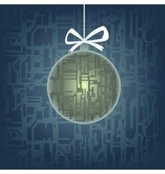 hi-tech christmas tree toy vector image vector image