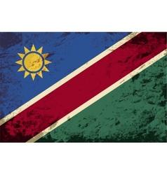 Namibian flag Grunge background vector image