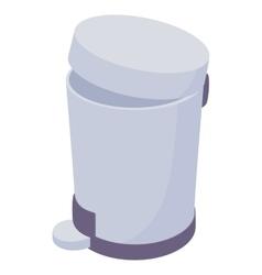 Pedal dust bin icon cartoon style vector image