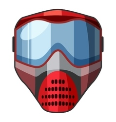 Red mask for paintball icon cartoon style vector image vector image