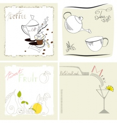 set of template for menu vector image