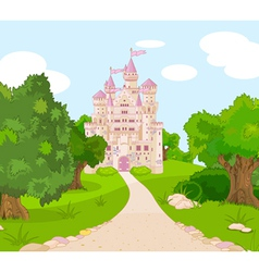 Castle on hill vector image vector image