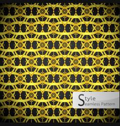 lotus flower mesh loop ribbon gold vintage vector image