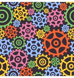 Seamless background from gears vector image