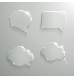 Set of Realistic Glass Speech Bubbles vector image