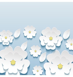 Wallpaper with 3d flowers sakura vector image