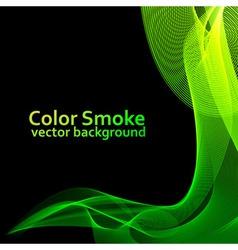 Abstract green smoke vector image