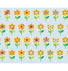 Flower seamless pattern simple and cute vector image vector image