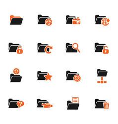 folder icon set vector image