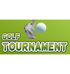 Golf tournament vector image vector image