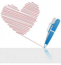 ink pen drawing vector image vector image