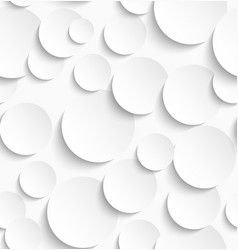 Seamless pattern of white circles with drop vector image vector image