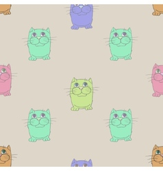 Seamless texture Cats vector image vector image