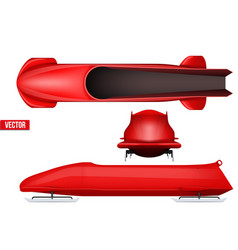 set of bobsleigh for four athletes vector image vector image