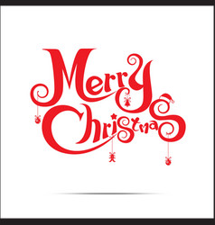 015 Merry Christmas text vector image