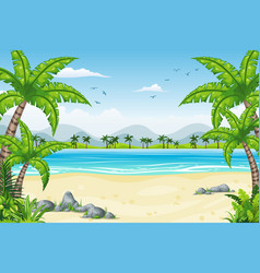 a tropical coastal landscape vector image