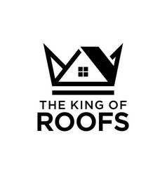 abstract crown with a top like a roof vector image