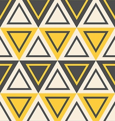 Abstract geometric pattern yellow triangles vector