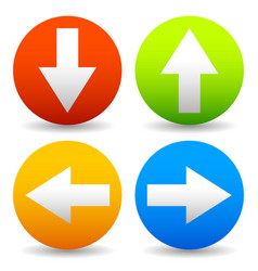 Arrow icons pointing up down left and right vector