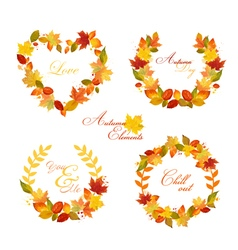 Autumn Wreath - Banners and Tags vector