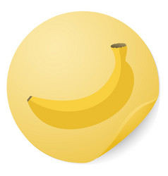 banana sticker vector image