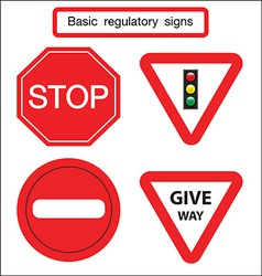Basic traffic sign give way vector