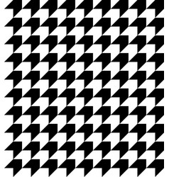 Black and white houndstooth pattern vector