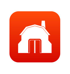 blacksmith workshop building icon digital red vector image
