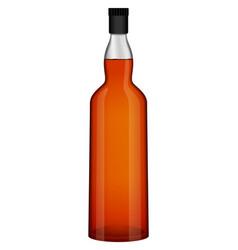 bottle of whiskey mockup realistic style vector image