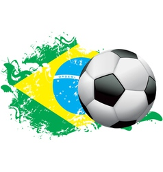 Brazil Soccer Grunge vector