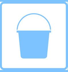 bucket icon vector image