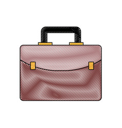 business briefcase portfolio accessory icon vector image