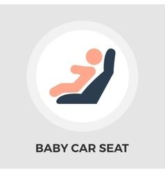 Child car seat flat icon vector