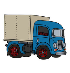 classic blue delivery truck vector image