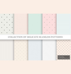 collection color repeatable delicate patterns vector image