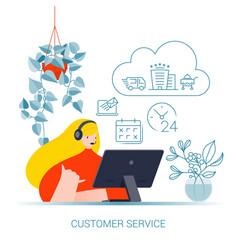 Customer service concept collection vector