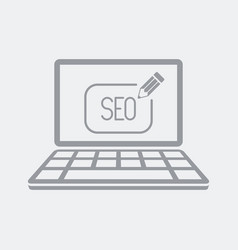 Customized seo services on laptop vector