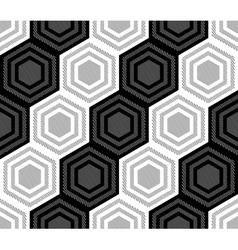 Design seamless monochrome hexagonal pattern vector image